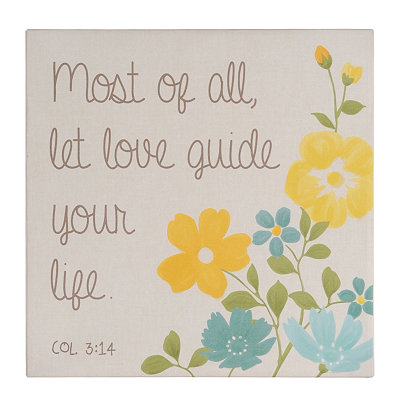 Let Love Guide Your Life Wall Plaque