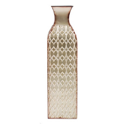 Champagne Corrugated Floor Vase