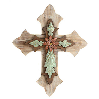 Rustic Wood & Metal Cross