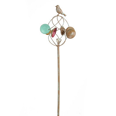 Antiqued Bird Garden Spinner