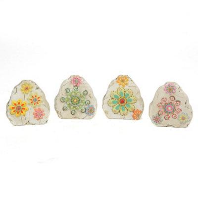 Flower Gems Garden Stones