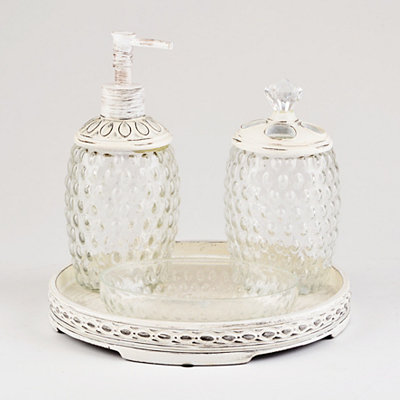Bubble Glass 4-Piece Bath Accessory Set