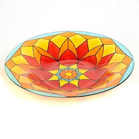 Stained Glass Birdbath
