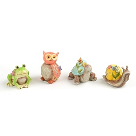 Painted Animal Garden Statues