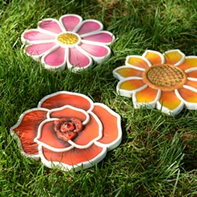 Summer Flower Stepping Stones