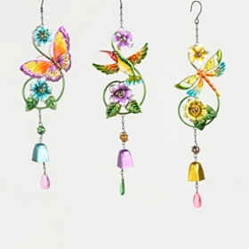 Iridescent Metal Garden Chimes