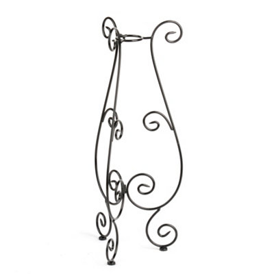 Black Scrollwork Gazing Ball Stand