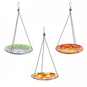 Stained Glass Hanging Bird Feeders