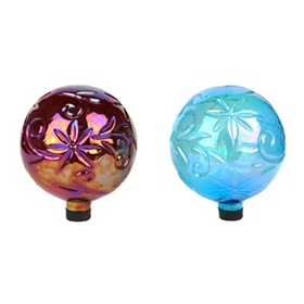 Flower Embossed Gazing Balls