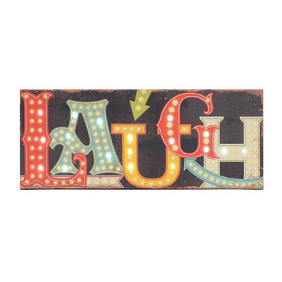 Laugh LED Canvas Art Print