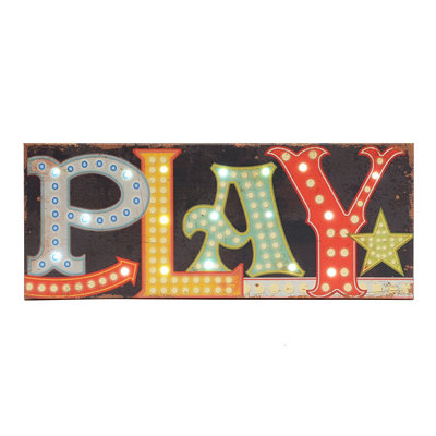 Play LED Canvas Art Print