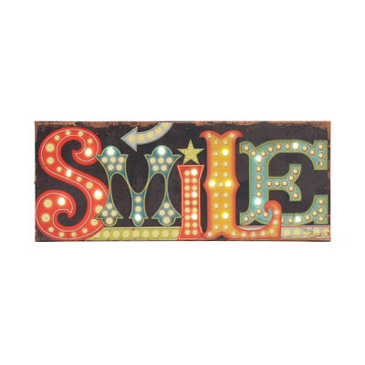 Smile LED Canvas Art Print