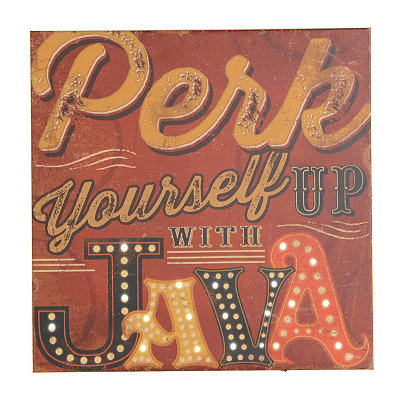 Perk Yourself Up with Java LED Canvas Art Print