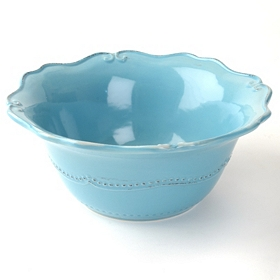 Aqua Rosalina Serving Bowl