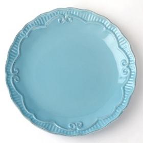 Aqua Rosalina Dinner Plate
