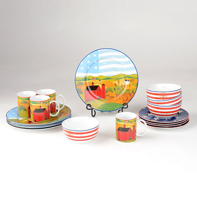 America the Beautiful 16-pc. Dinner Set