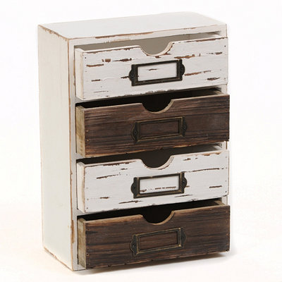 Distressed 4-Drawer Box