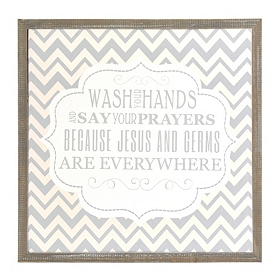 Chevron Jesus & Germs Wall Plaque