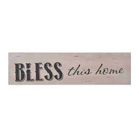 Bless This Home Wall Plaque