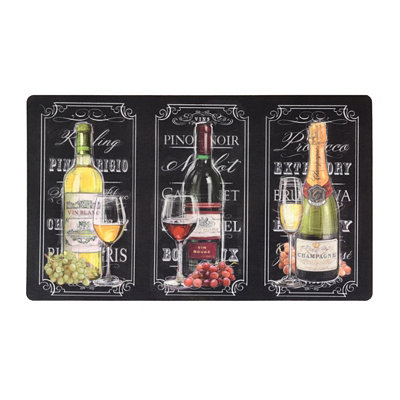 Wine and Champagne Kitchen Mat