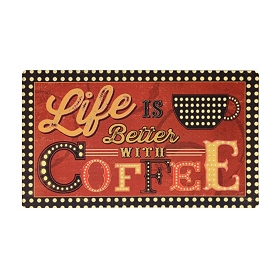 Life Is Better With Coffee Kitchen Mat
