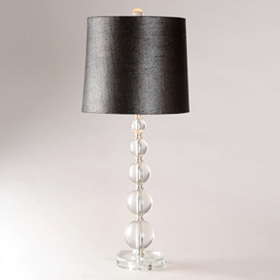 Black Sparkle Crystal Buffet Lamp