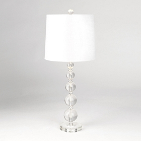 Clear Stacked Crystal Table Lamp