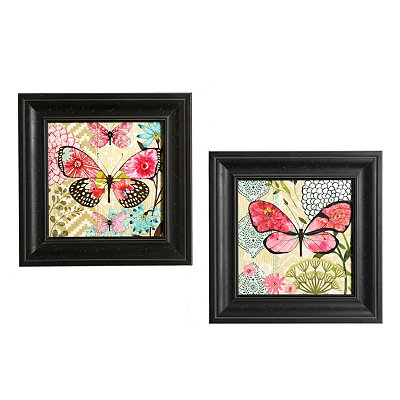 Butterfly Dreams Framed Art Prints, Set of 2