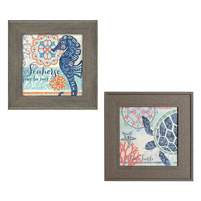 Northshore Framed Art Prints, Set of 2