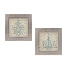 Jeweled Chandelier Framed Art Prints, Set of 2