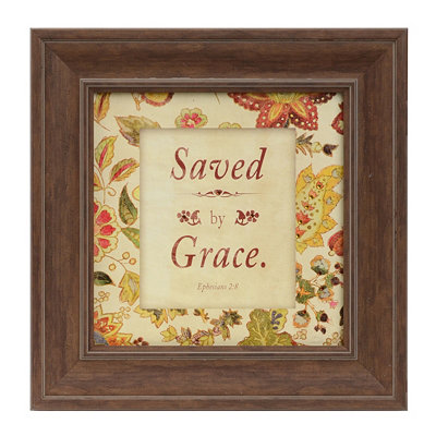 Saved By Grace Framed Art Print