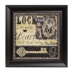 Lock Me In Your Heart Framed Art Print