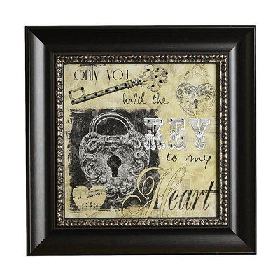 Key To My Heart Framed Art Print