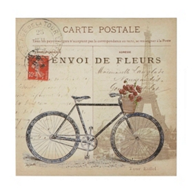 Carte Postale Parisienne I Canvas Art Print