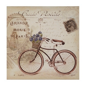 Carte Postale Parisienne II Canvas Art Print
