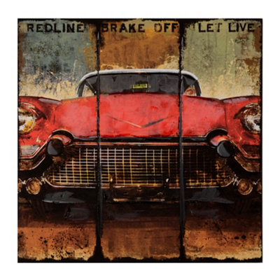 Redline Auto Canvas Art Print