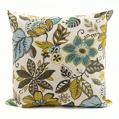 Turquoise Floral Milly Pillow