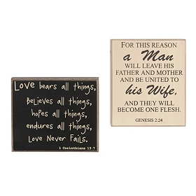 Bible Verse Wedding Plaques