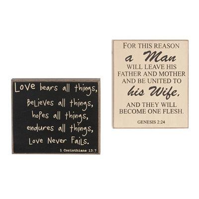 Bible Verse Wedding Plaques