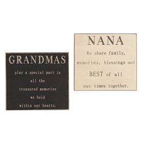 Grandmother Sentiment Plaques