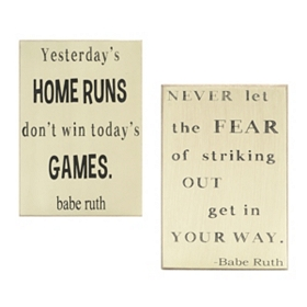 Babe Ruth Wall Plaques