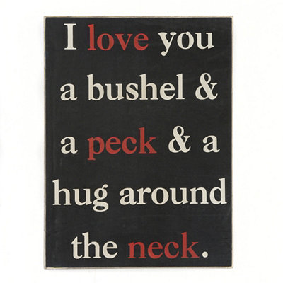 Bushel And A Peck Wall Plaque