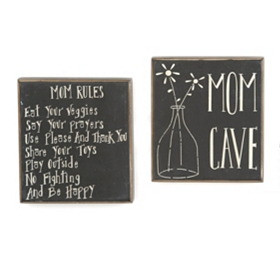 Mom Sentiment Wall Plaques