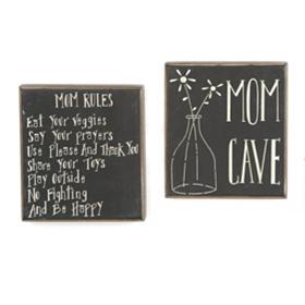 Mom Sentiment Wall Plaques