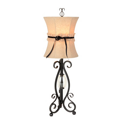 Seville Black Scroll Table Lamp