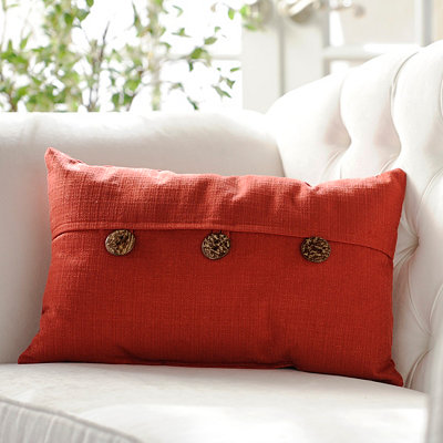 Dynasty Ruby Red Oblong Pillow