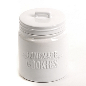 White Homemade Cookies Jar