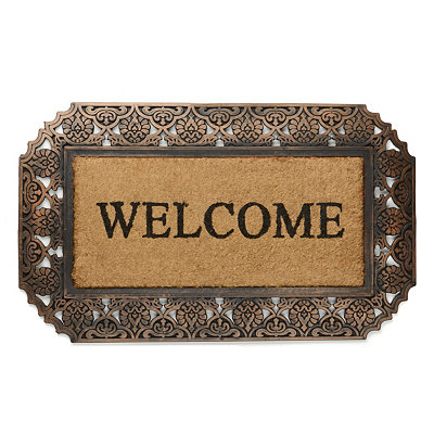 Bronze Coir Rubber Welcome Doormat