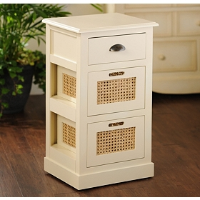 Cream Cane Storage Chest