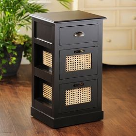 Black Cane Storage Chest